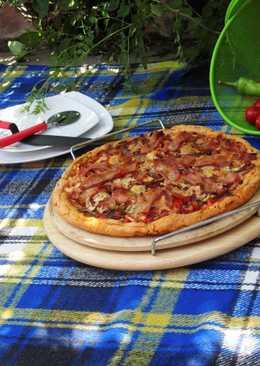 Pizzakövön sült magyaros pizza paleo