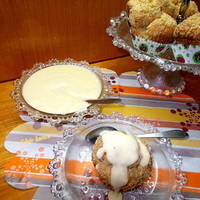Aranygaluska - muffin vaníliasodóval