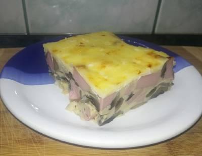 Sütőben sült gombás omlett