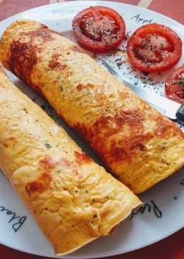 Fűszeres zöldséggel töltött omlett
