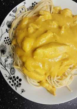 Vadas csirke spagettivel