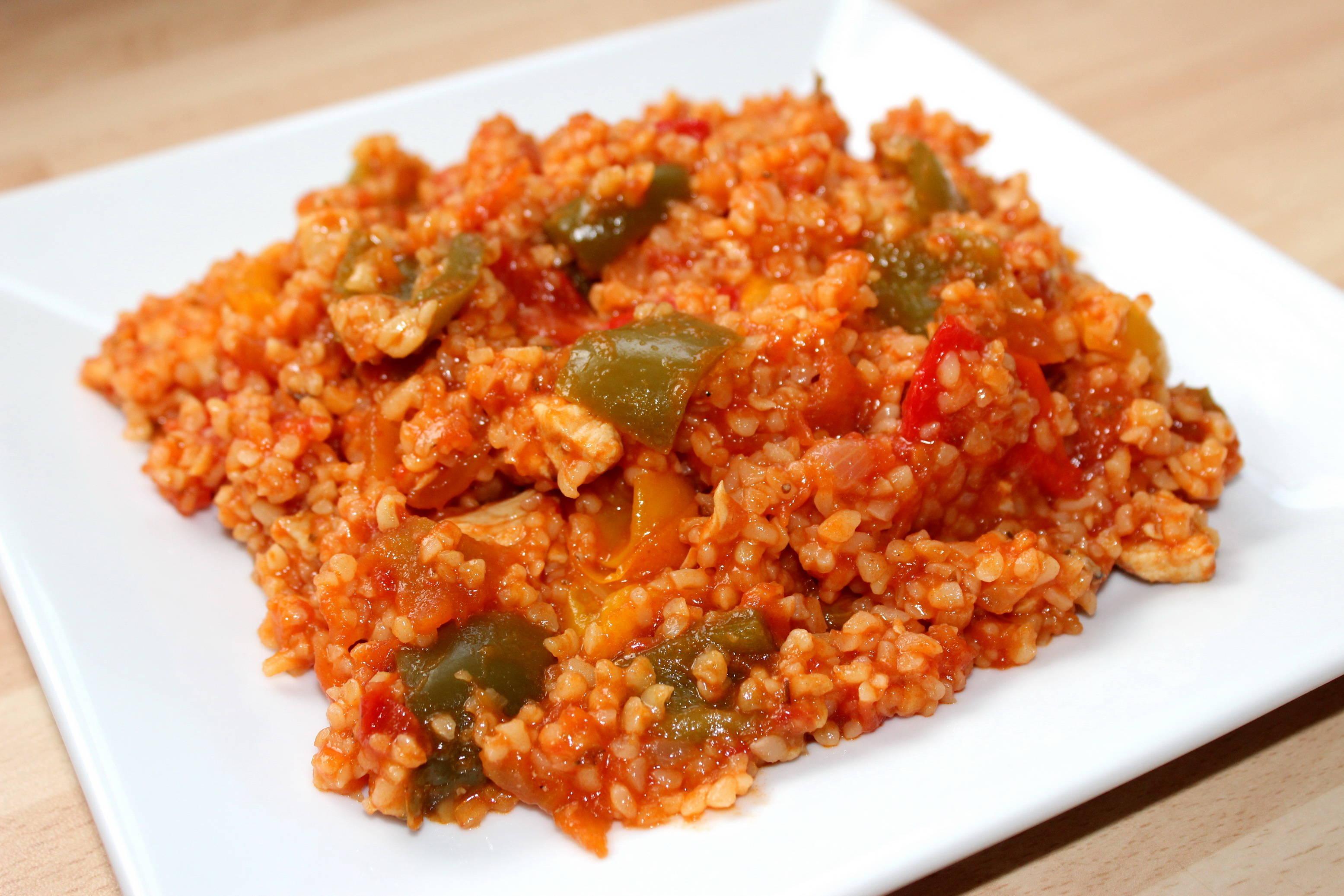 Paradicsomos-csirkés bulgur recept főfotó