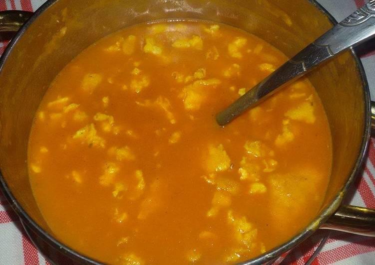 Fokhagymás tojásos leves