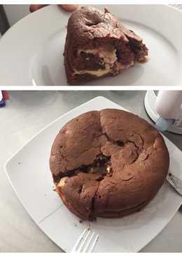 Csokis-meggyes-túrós sütemény
