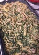 Spenótos-csirkés rakott tészta 😋😉