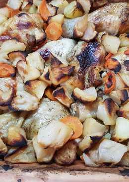 Csirkecombok Pataki tálban