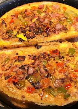 Zöldséges sonkás omlett kenyérben