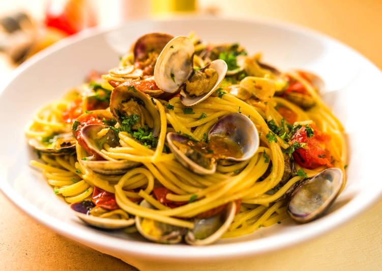 Vénuszkagylós spagetti recept (Spaghetti alle vongole)