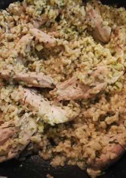 Zöldfűszeres csirkemell bulgúrral