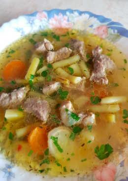 Zöldbabos sertésragú leves