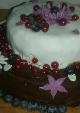 Apukám szülinapjára készített tortám