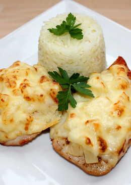 Ananászos-sajtos csirke