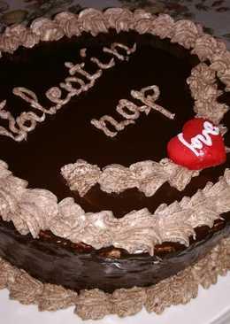 Valentin napi csoki torta