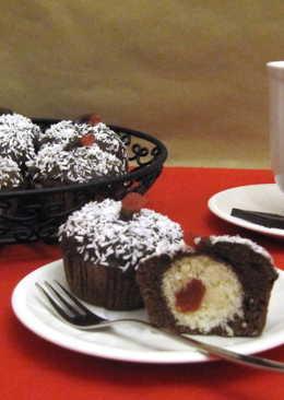 Kakaós muffin meglepetéssel