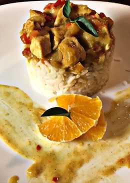 Currys-mangós csirke kókusztejjel