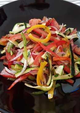 Nyers lecsó (Lecsó saláta)