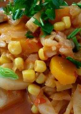 Mediterrán csirkés egytálétel /leves (low carb)