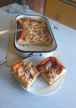 Tepsis, burgonyás pizza 😊