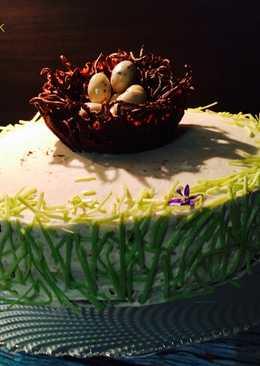 Fehércsokis-narancsos húsvéti torta