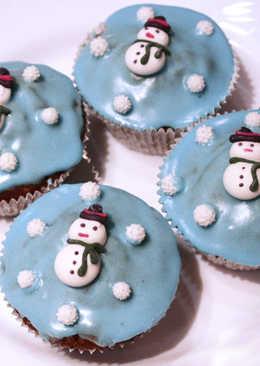 Karácsonyi fűszeres muffinok téli díszben