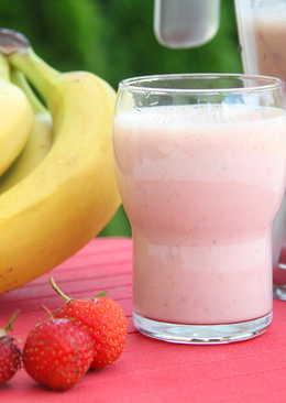 Rostos eper-banán smoothie