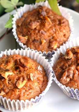 Sütőtökös-diós vegán muffin