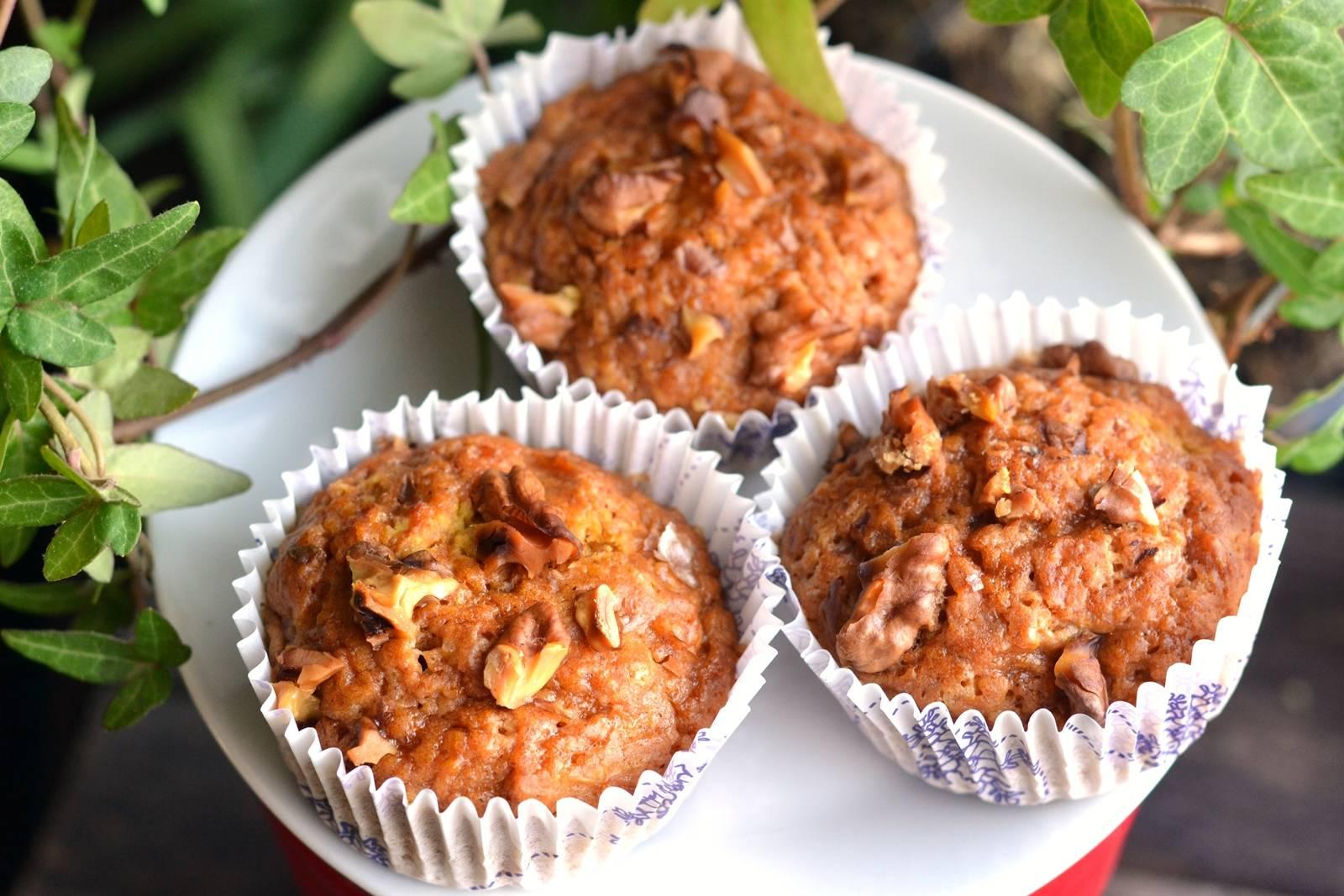 Sütőtökös-diós vegán muffin recept főfotó