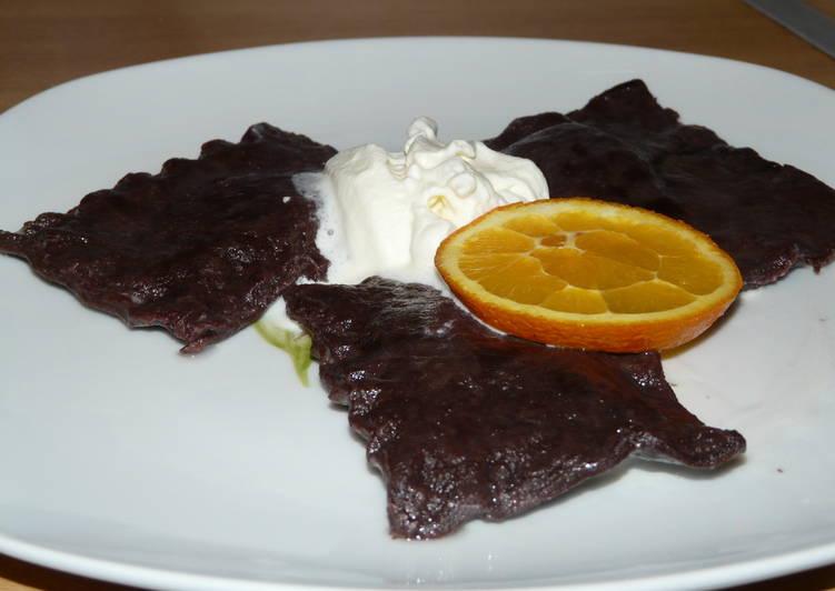 Kakaós-narancsos ravioli