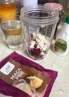 Málnás-fehérjés smoothie