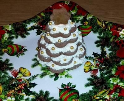 Karácsonyi mézeskalács asztali dísz