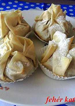 Diós - almás rétes muffin