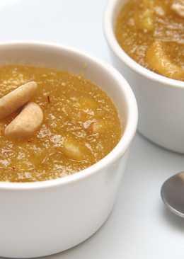 Indiai búzadara puding recept (Rava Kesari)