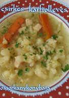 Rizses-csirkés karfiolleves