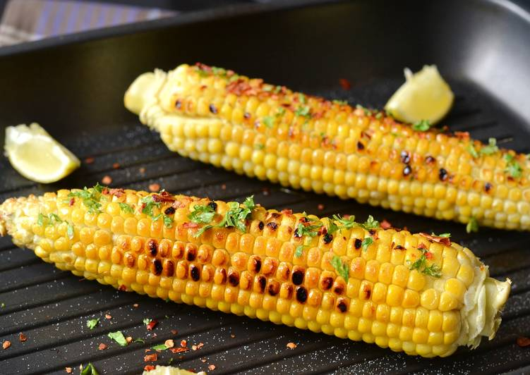 Chilis-korianderes sült kukorica