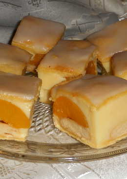 Pudingos barackos sütemény