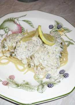 Pezsgős tonhalas spagetti