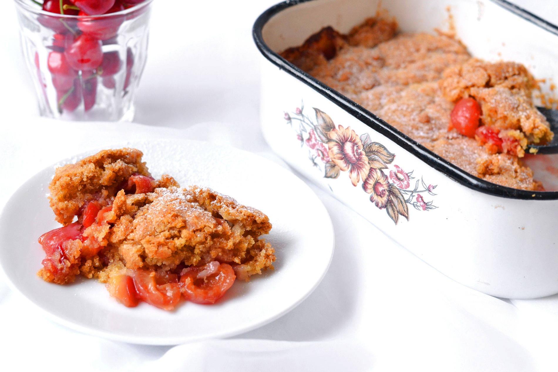 Cseresznyés cobbler recept főfotó