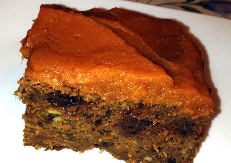 Sárgarépa - cékla torta citromos sütőtök krémmel