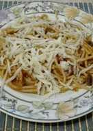 Szilvás-padlizsános spagetti
