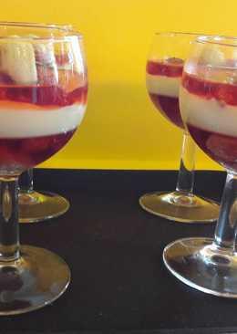 Málnás-mascaponés pohárkrém