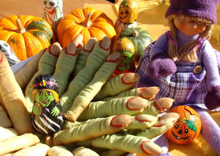 Halloween boszorkány ujjak