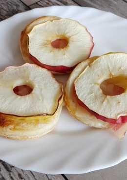 Almás-baconös korongok