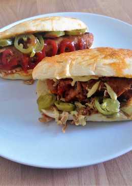 Grillkolbászos hot-dog