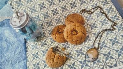 Mogyoróvajas-karamellás keksz