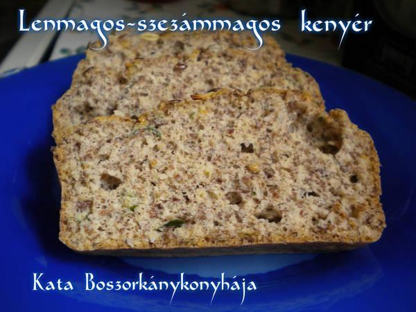 Lenmagos-szezámmagos kenyér (Gluténmentes)