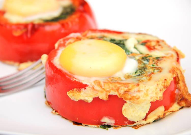 Spenótos tojás recept kaliforniai paprikában
