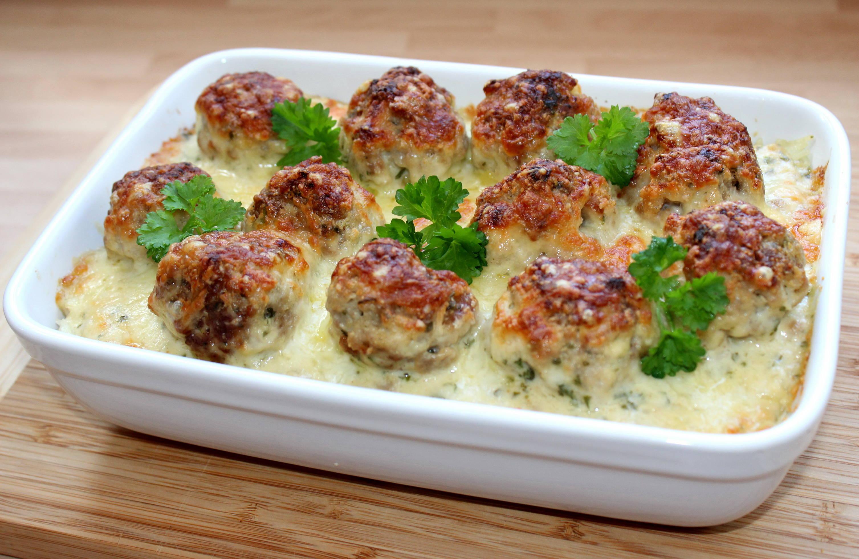 Húsgombócos rakott karfiol recept főfotó