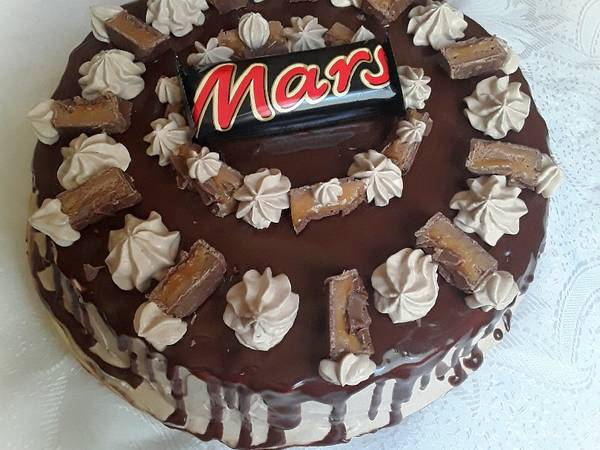 Mars csokitorta