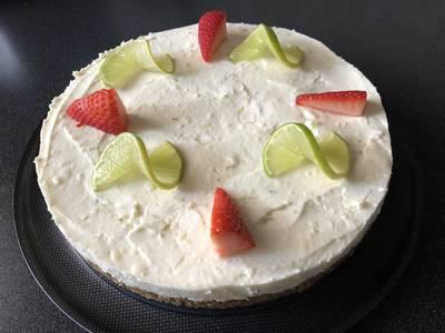 Joghurtos-lime-os sajttorta #valentinnap