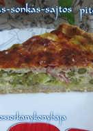 Spárgás-sonkás-sajtos pite (Gluténmentesen is)
